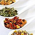 Assorted Herbal Wellness Dry Tea In Spoons by Elena Elisseeva