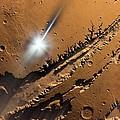Asteroid Impact On Mars, Artwork by Detlev Van Ravenswaay