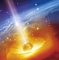 Asteroid Impacting The Earth, Artwork by Detlev Van Ravenswaay