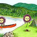 Astors Camping Print by Kathleen Walker