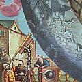 Astronomers looking through a telescope Print by Andreas Cellarius
