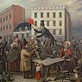 Auction In Chatam Street by E Didier