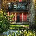 Autumn - House - The Estates Print by Mike Savad