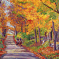 Autumn Ride Print by David Lloyd Glover