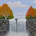 Autumn Waterfall by Georgeta  Blanaru