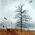 Baby Buggy By Tree With Nest And Birds by Jill Battaglia
