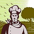 Baker chef  Print by Aloysius Patrimonio