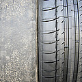 Bald And New Tyre by Cordelia Molloy