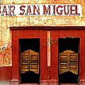 Bar San Miguel Print by Olden Mexico