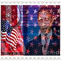 Barack A Stamp by Fania Simon