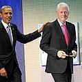Barack Obama, Bill Clinton At A Public by Everett