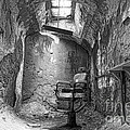 Barber - Chair - Eastern State Penitentiary - Black And White by Paul Ward