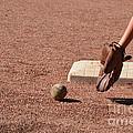 baseball and Glove by Randy J Heath