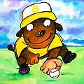 Baseball Dog 3 by Scott Nelson