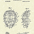 Baseball Mask 1912 Patent Art by Prior Art Design