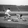 Baseball. Ty Cobb Safe At Third by Everett