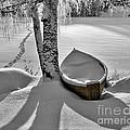 Bath And Snowy Rowboat by Ari Salmela