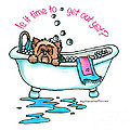 Bath time Print by Catia Cho
