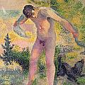 Bather Drying Himself At St Tropez by Henri-Edmond Cross