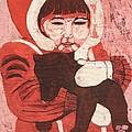 Batik -girl W Bear- by Lisa Kramer
