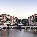 Bayfront Shopping Center and Marina Print by ROB TILLEY
