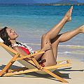 Beach Stretching II by Tomas del Amo