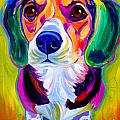 Beagle - Molly Print by Alicia VanNoy Call