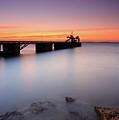 Beautiful Beach And Bridge by Oscar Gonzalez