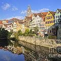 Beautiful german town Tuebingen - Neckar waterfront Print by Matthias Hauser