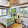 Bedroom With A Wood Ceiling by Skip Nall