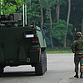 Belgian Infantry Soldiers Walk by Luc De Jaeger
