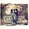 Bellefontaine Angel Polaroid transfer Print by Jane Linders