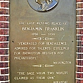 Benjamin Franklin Marker by Snapshot  Studio