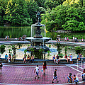 Bethesda Fountain Overlooking Central Park Pond by Paul Ward