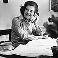 Betty Ford Works At Her Desk Situated by Everett
