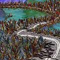 Between Lakes Print by Marina Gershman