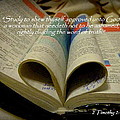 Bible Heart Scripture Art 2 Timothy 2 Print by Cindy Wright