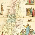 Biblical Map Palestine by Pg Reproductions
