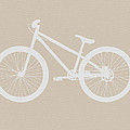 Bicycle Brown Poster by Naxart Studio