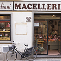 Bicycle in Front of Italian Delicatessen Poster by Jeremy Woodhouse