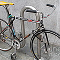 Bicycle With Stickers by Wingsdomain Art and Photography