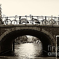 Bicycles Of Amsterdam by Leslie Leda
