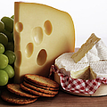 Biscuits, Grapes And Continental Cheeses by Simon Battensby