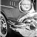 Black And White 1957 Chevy by Steve McKinzie