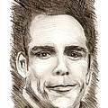 Black And White Pencil Portrait by Mario Perez