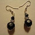 Black Sparkle Drop Earrings by Jenna Green