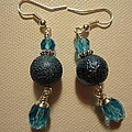 Blue Ball Sparkle Earrings by Jenna Green