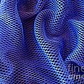 Blue Net Background Print by Carlos Caetano