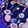 Blue on Blue Print by Bonnie Bruno