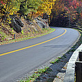 Blue Ridge Parkway Autumn Road by Bruce Gourley